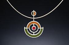 Anchor Pendant by Ben Neubauer (Silver & Resin Necklace)