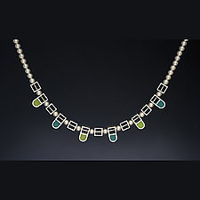 Arches and Squares Necklace by Ben Neubauer (Silver & Resin Necklace)