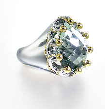 Garland Ring by Ellen Himic (Silver & Stone Ring)