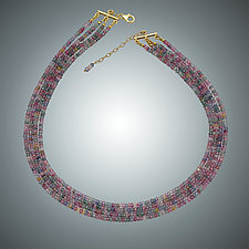 Multi-Tone Quartz Necklace by Judy Bliss (Gold & Stone Necklace)
