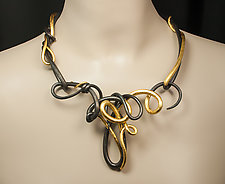 Old World Vines by Valerie Ostenak (Gold & Steel Necklace)