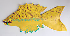Lemonade Fish by Byron Williamson (Ceramic Wall Sculpture)