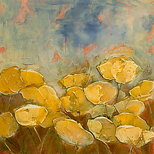 Yellow Poppy Field by Denise Souza Finney (Acrylic Painting)
