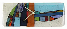 Patterned Hill and Valley Art Glass Clock by Nina  Cambron (Art Glass Clock)