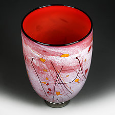 Paprika Passion by Eric Bladholm (Art Glass Vessel)