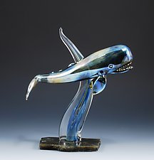 Reflections of the Deep by Jeremy Sinkus (Art Glass Sculpture)