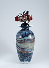 Lionfish Vase by Jeremy Sinkus (Art Glass Vase)