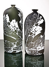 Leaf Bottle by Nick Chase (Art Glass Bottle)