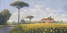 Sunflowers in Provence by Allan Stephenson (Giclee Print)