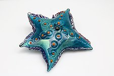 Blue tropics, Sea Star by Benjamin Silver (Art Glass Sculpture)