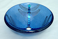 Dragonfly Vessel Sink by Mark Ditzler (Art Glass Sink)
