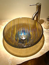 Bronze Vessel Sink by Mark Ditzler (Art Glass Sink)