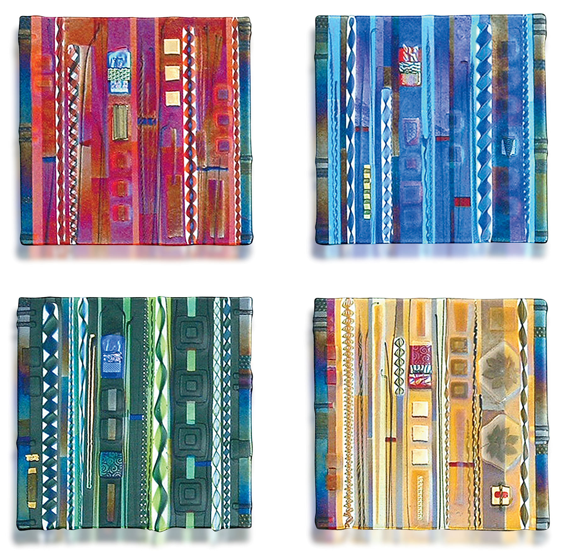 Wall panel color series set by mark ditzler art glass for Large glass wall