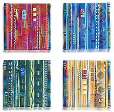 Wall Panel Color Series Set by Mark Ditzler (Art Glass Wall Art)