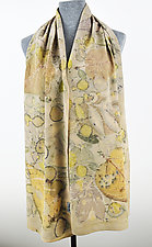 Desert Bloom Stonewashed Silk Crepe de Chine Scarf by Ayn Hanna (Silk Scarf)