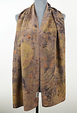 Deep Forest Stonewashed Silk Crepe de Chine Scarf by Ayn Hanna (Silk Scarf)