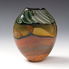 Desert Series Oval by Steven Main (Art Glass Vase)