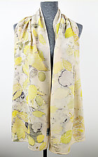 Summer Breeze Stonewashed Silk Crepe de Chine Scarf by Ayn Hanna (Silk Scarf)