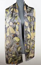 Moonlit Garden Silk Charmeuse Scarf by Ayn Hanna (Silk Scarf)