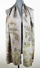 Silver Mist Silk Charmeuse Scarf by Ayn Hanna (Silk Scarf)