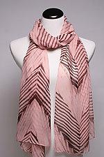 Pastel Arashi Scarf in Pink by Suzanne Bates  (Silk Scarf)