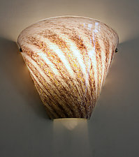 Rose Strands Sconce by Joel and Candace  Bless (Art Glass Sconce)