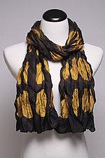 Gold Circles Silk Scarf by Suzanne Bates  (Silk Scarf)