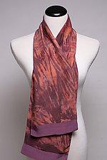 Purple 2-Sided Scarf by Suzanne Bates  (Silk Scarf)