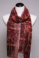 Brown Silk Chiffon Scarf by Suzanne Bates  (Silk Scarf)