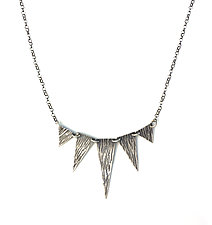 Triangles, 5 by Susie Aoki (Silver Necklace)