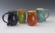 Flower Mugs by Lacey Goodrich (Ceramic Mug)