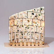Jerusalem Menorah by Varda Avnisan (Art Glass Menorah)