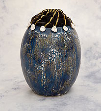 Rishi Pearl Vessel II by Valerie Seaberg (Mixed-Media Vessel)