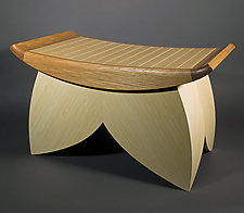Lotus Bench by Douglas W. Jones and Kim Kulow-Jones (Wood Bench)