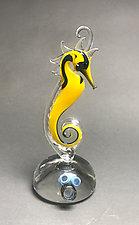 Sea Caution by Jennifer Caldwell (Art Glass Sculpture)