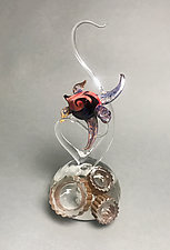 Swimming in Aurora by Jennifer Caldwell (Art Glass Sculpture)