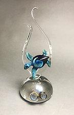 Agua Azul by Jennifer Caldwell (Art Glass Sculpture)