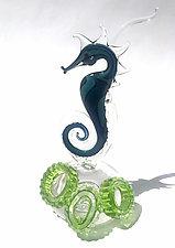 True Blue by Jennifer Caldwell (Art Glass Sculpture)