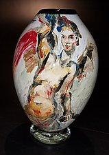 Portrait Graal Vase by The Glass Forge (Art Glass Vase)