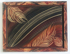 Palm Leaf Tray by Ingela Noren and Daniel  Grant (Wood Tray)