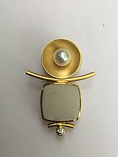 Pearl, Drusy, and Diamond Enhancer by Ilene Schwartz (Gold & Stone Pendant)