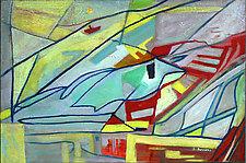 Blue Bird by Albert Barcilon (Oil Painting)