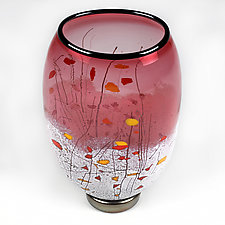 Heavenly Hyacinth by Eric Bladholm (Art Glass Vase)