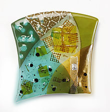 Reflected Patterns by Nina  Cambron (Art Glass Wall Sculpture)