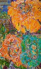 Mais Oui Fleures 3 by Kathryn Pistor (Acrylic Painting)