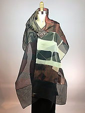 Silk Organza Pieced Shawl by Michael Kane  (Silk Wrap)