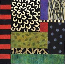 Garden Bloom II by Emilia Van Nest Markovich (Pastel Painting)