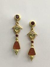 Drop Earrings by Ilene Schwartz (Gold & Stone Earrings)