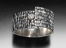 Twill Wrap Ring by Linda Bernasconi (Gold, Silver & Stone Ring)