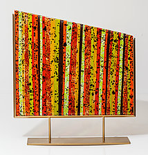 Autumn Leaves Art Glass Sculpture by Varda Avnisan (Art Glass Sculpture)